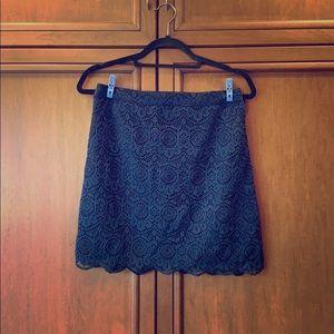 Holister Navy Lace Mini Pencil Skirt